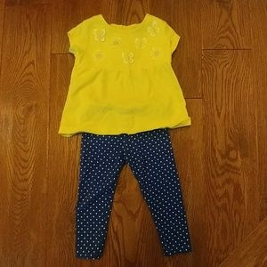 Carter's 12 month yellow butterfly & flowers set